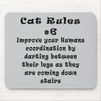 Cat Rules Number 6 Mouse Pad