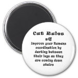 Cat Rules Number 6 Refrigerator Magnets