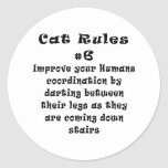 Cat Rules Number 6 Sticker