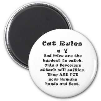 Cat Rules Number 7 Magnet