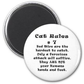 Cat Rules Number 7 Refrigerator Magnet