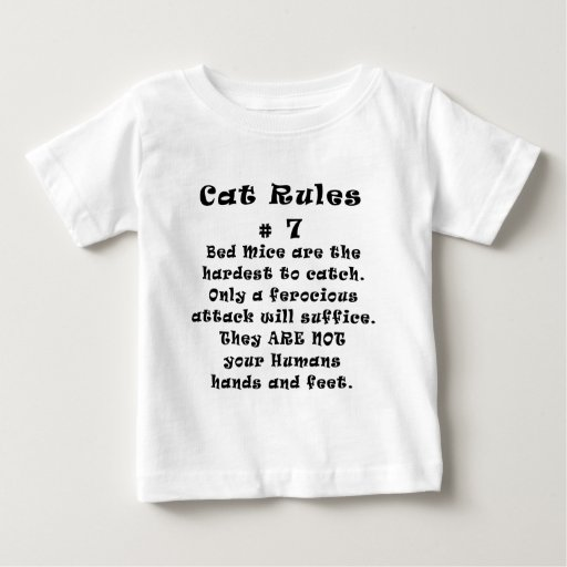 Cat Rules Number 7 Tshirts