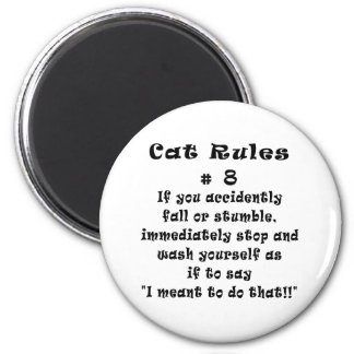 Cat Rules Number 8 Magnet