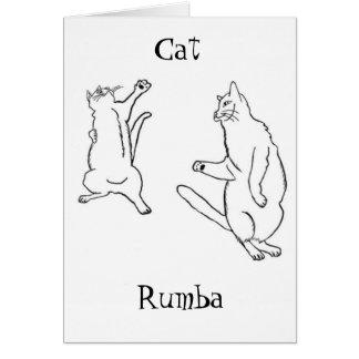 Cat Rumba Card
