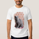 Cat (Russian blue) and wallpaper background Tee Shirt
