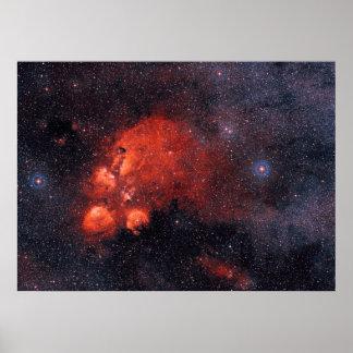 Cat's Paw Nebula NGC 6334 Poster
