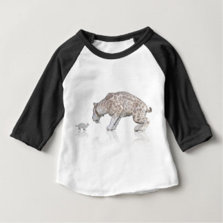Cat Sabretooth Reflection Staring At Each Other Baby T-Shirt