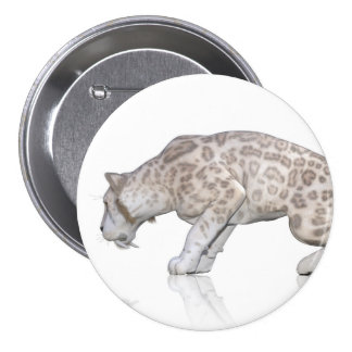 Cat Sabretooth Reflection Staring At Each Other Pinback Button