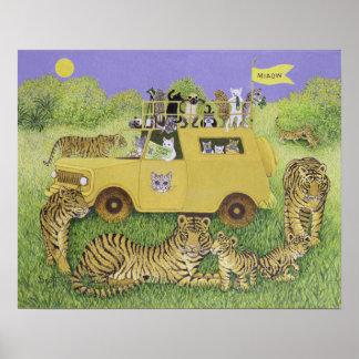Cat Safari Poster