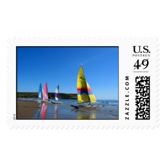 CAT SAILING BOATS IN WALES POSTAGE STAMP