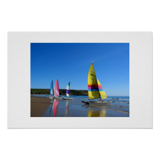 CAT SAILING BOATS IN WALES PRINT