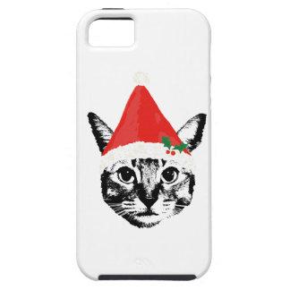 Cat & santa hat iPhone 5 cases
