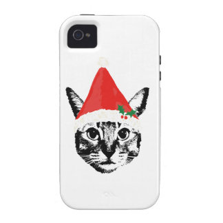 Cat & santa hat case for the iPhone 4