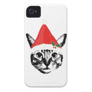 Cat & santa hat Case-Mate iPhone 4 case