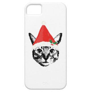 Cat & santa hat iPhone 5 case