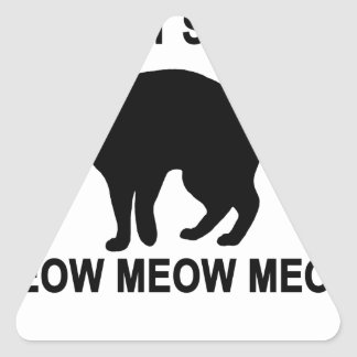 Cat Say T-Shirts.png Triangle Sticker