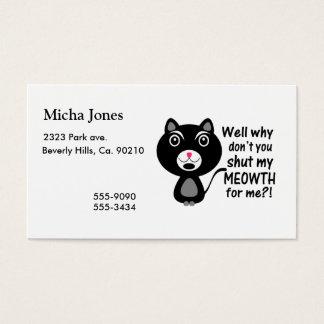 Cat Says Make Me Shut My Meowth Business Card