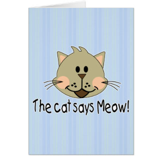 Cat Says Meow Card