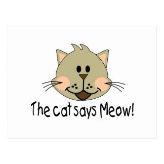 Cat Says Meow Postcard