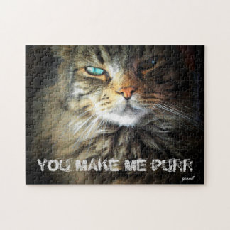 Cat Says You Make Me Purr Jigsaw Puzzle