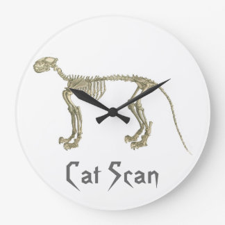 Cat Scan Skeleton Wall Clock