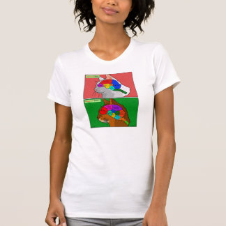 """""""Cat Scan"""" - the Abyssinian Brain T Shirt"""
