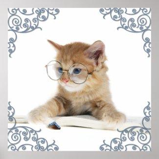 Cat Scholar print