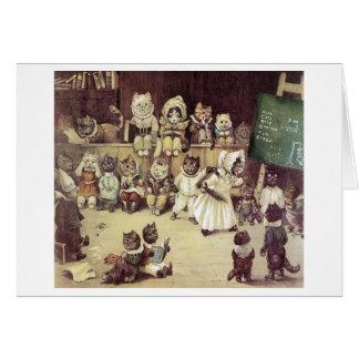 Cat School by Louis Wain Note Card
