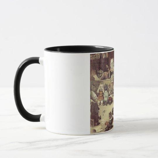 Cat School Mug by Louis Wain