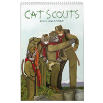 Cat Scouts 2018 Cute Camping Cats Calendar