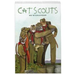 Cat Scouts 2018 Cute Camping Cats Calendar