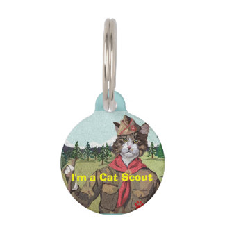 Cat Scouts Cat ID Tag Pet Nametags