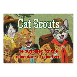 Cat Scouts (TM) membership card Business Card Templates