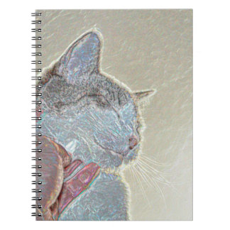 cat scratch under neck sparkle animal feline pet notebook