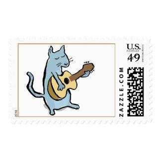 cat serenade postage stamp
