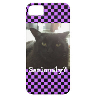 """Cat """"Seriously?!"""" Mimi iPhone 5/5S Case"""