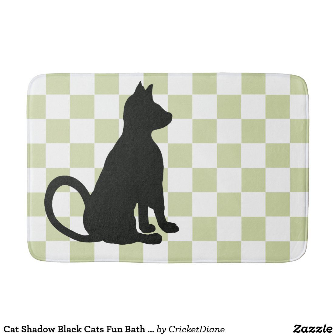 Cat Shadow Black Cats Fun Bath CricketDiane Bathroom Mat