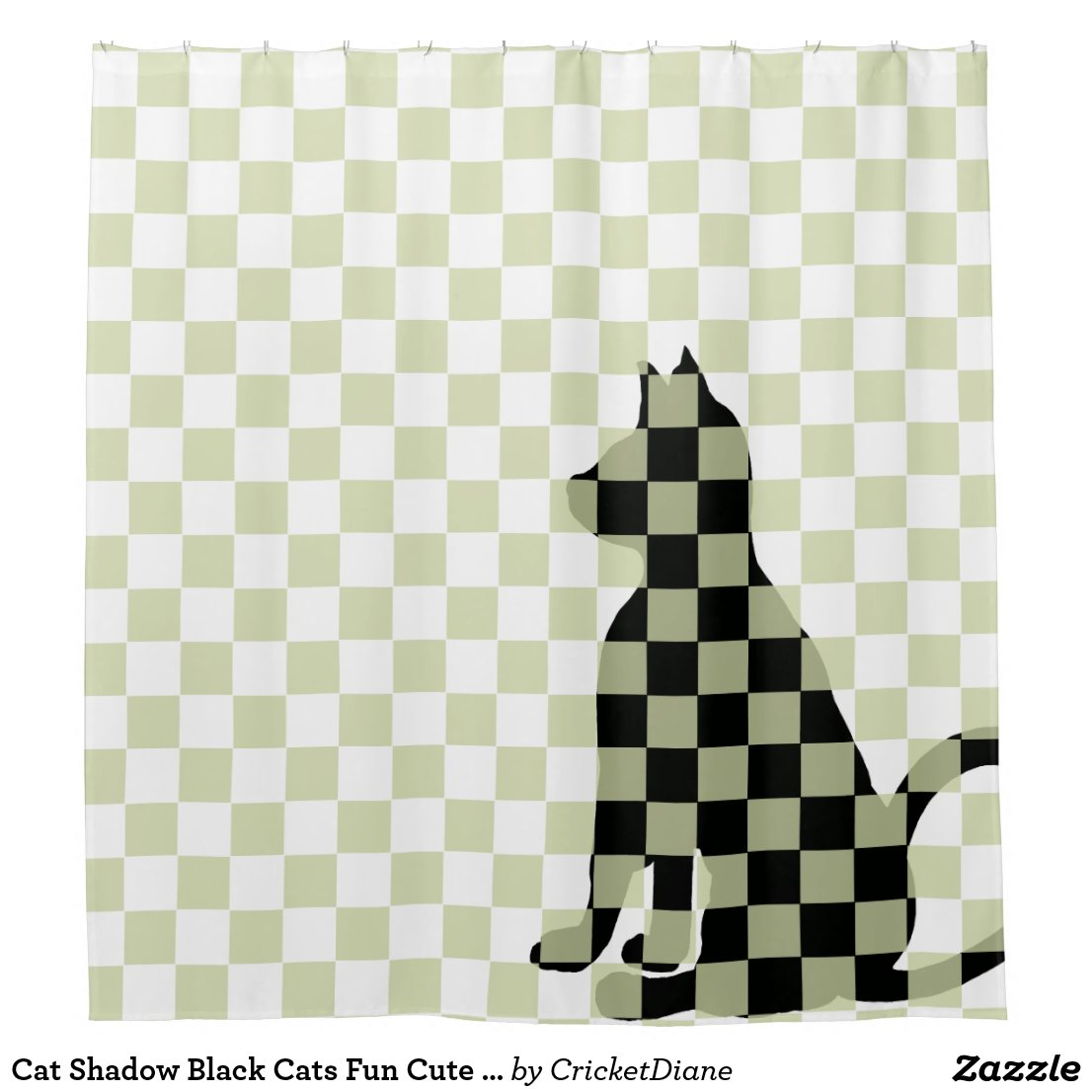 Cat Shadow Black Cats Fun Cute Funny CricketDiane Shower Curtain