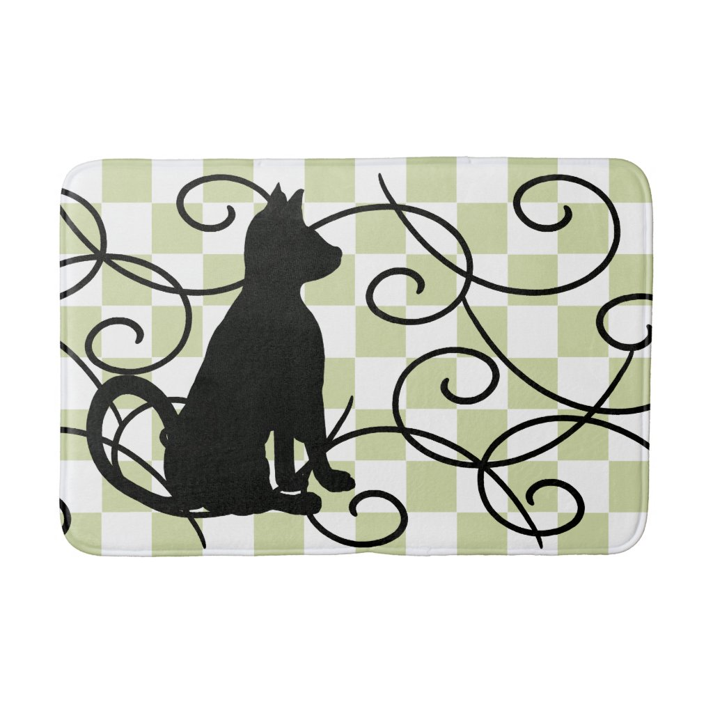 Cat Shadow Black Cats Ornate Bath CricketDiane Bathroom Mat