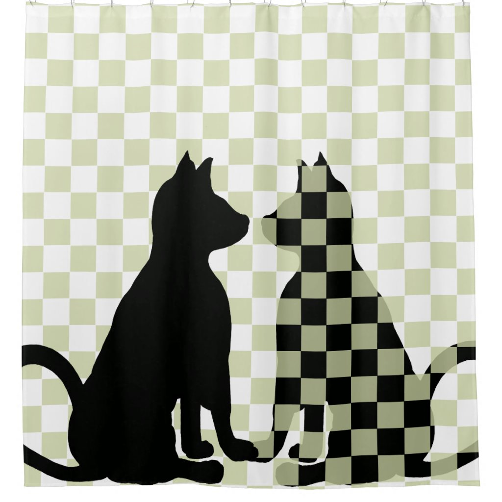 Cat Shadows Cats Fun Bath Cute Funny CricketDiane Shower Curtain
