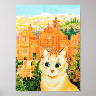 Cat & Shangri-la, Louis Wain Poster