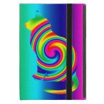Cat Shaped Rainbow Twirl Covers For iPad Mini