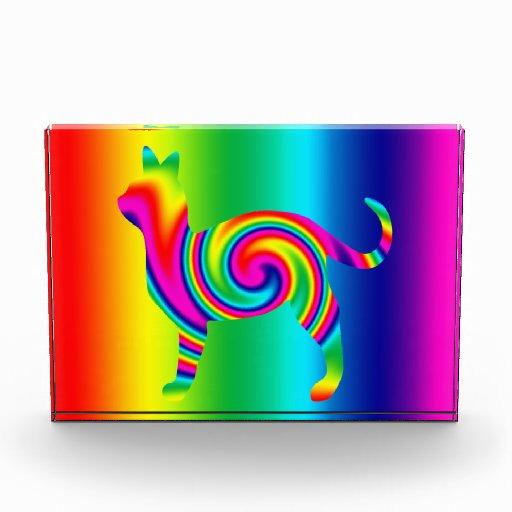 Cat Shaped Rainbow Twist Award