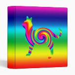 Cat Shaped Rainbow Twist Binders