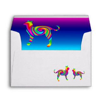 Cat Shaped Rainbow Twist Envelope