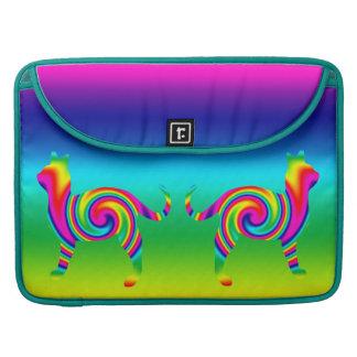 Cat Shaped Rainbow Twist MacBook Pro Sleeve