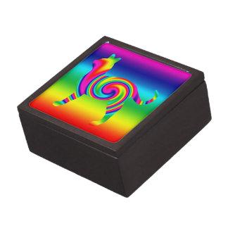 Cat Shaped Rainbow Twist Premium Trinket Box