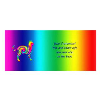 Cat Shaped Rainbow Twist Rack Card