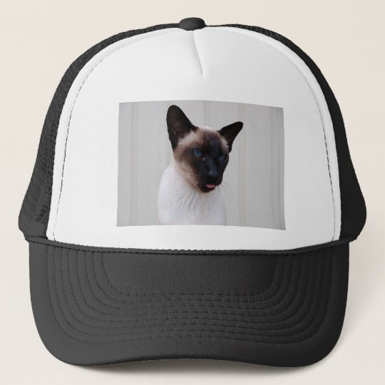 Cat Siamese Portrait Trucker Hat