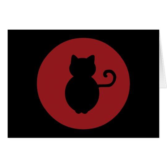 Cat Signal Silhouette Card